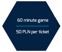 60 minute game 50 pln per ticket