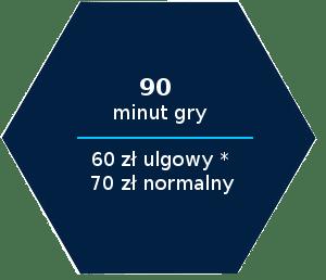 90 minut gry 60 zl ulgowy 70 zl normalny